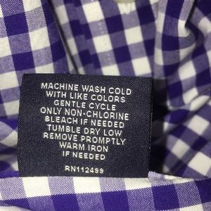 Tailorbyrd Shirts - Tailorbyrd Purple & White Button Down Shirt XL